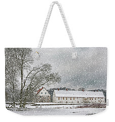 Hovdala Castle In Winter Weekender Tote Bag