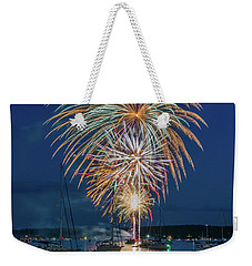 Independence Day Fireworks In Boothbay Harbor Weekender Tote Bag