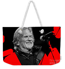 Kris Kristofferson Collection Weekender Tote Bag by Marvin Blaine
