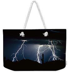 4 Lightning Bolts Fine Art Photography Print Weekender Tote Bag
