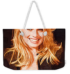 Margot Robbie Painting Weekender Tote Bag