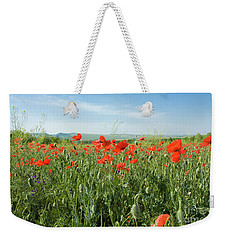 Meadow With Red Poppies Weekender Tote Bag