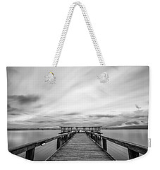 Melbourne Beach Pier Sunset Weekender Tote Bag