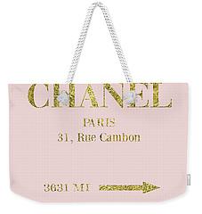 Mileage Distance Chanel Paris Weekender Tote Bag
