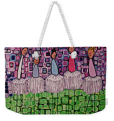 Weekender Tote Bag featuring the painting 4 Non-blondes by Donna Howard