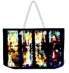 Weekender Tote Bag featuring the digital art 4 Panels Of Seville Abstract by Donna Corless