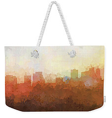 Weekender Tote Bag featuring the digital art Parsippany New Jersey Skyline by Marlene Watson