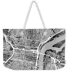 Philadelphia Pennsylvania Street Map Weekender Tote Bag