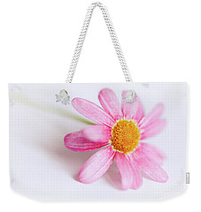 Weekender Tote Bag featuring the photograph Pink Aster Flower by Nick Biemans