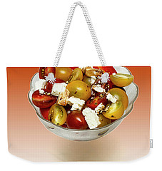 Plum Cherry Tomatoes Weekender Tote Bag by David French