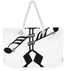 Punk Rock Weekender Tote Bag by Maria Watt
