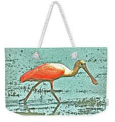 Weekender Tote Bag featuring the digital art 4- Roseate Spoonbill by Joseph Keane