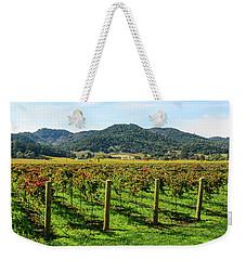 Rows Of Grapevines In Napa Valley California Weekender Tote Bag