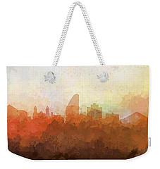 Weekender Tote Bag featuring the digital art San Jose California Skyline by Marlene Watson