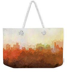 Weekender Tote Bag featuring the digital art Springfield Illinois Skyline by Marlene Watson