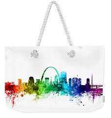 St Louis Missouri Skyline Weekender Tote Bag by Michael Tompsett