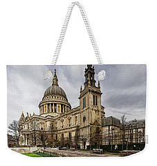 St Pauls Cathedral Weekender Tote Bag by Shirley Mitchell