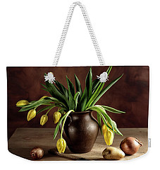 Still Life With Tulips Weekender Tote Bag by Nailia Schwarz