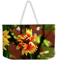 Weekender Tote Bag featuring the photograph Summer Flower by Elvira Ladocki