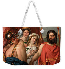 The Anger Of Achilles Weekender Tote Bag by Jacques Louis David
