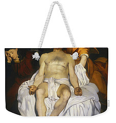 Weekender Tote Bag featuring the painting The Dead Christ With Angels by Edouard Manet