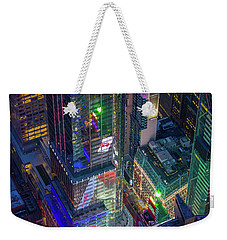 4 Times Square Weekender Tote Bag by Inge Johnsson