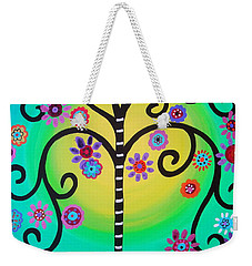 Tree Of Life Weekender Tote Bag by Pristine Cartera Turkus