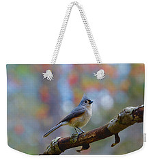 Weekender Tote Bag featuring the photograph Tufted Titmouse by Robert L Jackson