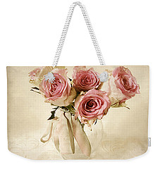 Vintage Bouquet Weekender Tote Bag