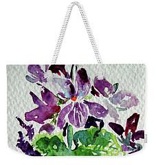 Violet Weekender Tote Bag by Kovacs Anna Brigitta
