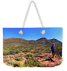 Weekender Tote Bag featuring the photograph Wilpena Pound by Bill Robinson