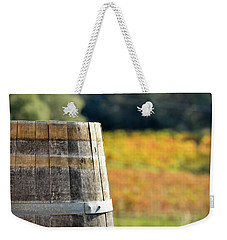 Wine Barrel In Autumn Weekender Tote Bag