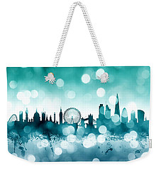 London England Skyline Weekender Tote Bag by Michael Tompsett