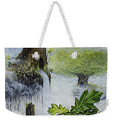 Weekender Tote Bag featuring the painting No Title  by Mariusz Zawadzki