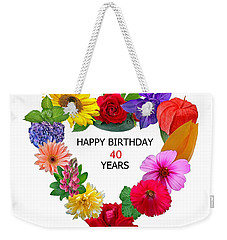 40th Birthday Weekender Tote Bag