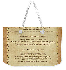 41- The Four Agreements Weekender Tote Bag