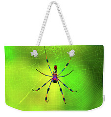 Weekender Tote Bag featuring the digital art 42- Come Closer by Joseph Keane