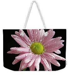 Pink Flower Weekender Tote Bag by Elvira Ladocki