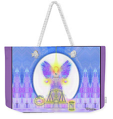 Weekender Tote Bag featuring the digital art 444 Justice #197 by Barbara Tristan