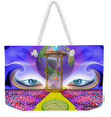 Weekender Tote Bag featuring the digital art 444 Pathway by Barbara Tristan