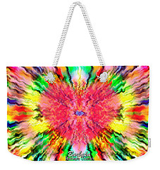Weekender Tote Bag featuring the mixed media 444 Loves Vibration by Barbara Tristan