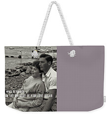 45 Years Quote Weekender Tote Bag by JAMART Photography