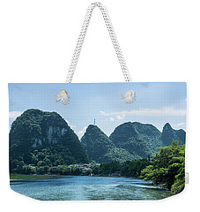 Lijiang River And Karst Mountains Scenery Weekender Tote Bag