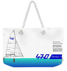 470 Olympic Sailing Weekender Tote Bag
