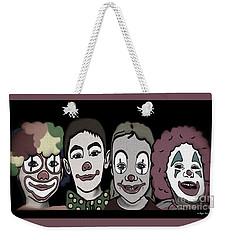 4happy Clowns 80 Weekender Tote Bag by Megan Dirsa-DuBois