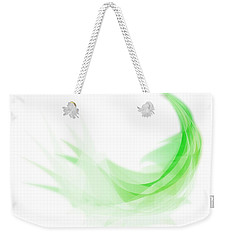 Weekender Tote Bag featuring the painting Abstract Feather by Setsiri Silapasuwanchai