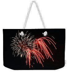 Weekender Tote Bag featuring the photograph Astoria Park Fireworks by Jim Poulos