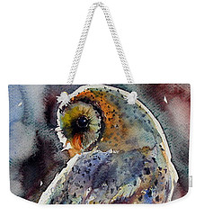 Barn Owl Weekender Tote Bag by Kovacs Anna Brigitta