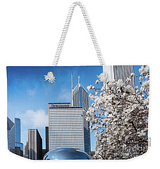 Chicago Bean Millenium Park Weekender Tote Bag