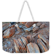 Weekender Tote Bag featuring the photograph Colorful Cove In Valley Of Fire by Ray Mathis